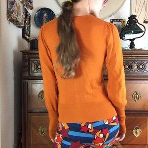 Arden B Tops - Arden B Country Peasant Burnt Orange Sweater Top